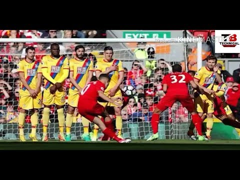 Philippe Coutinho brilliant freekick against crystal palace