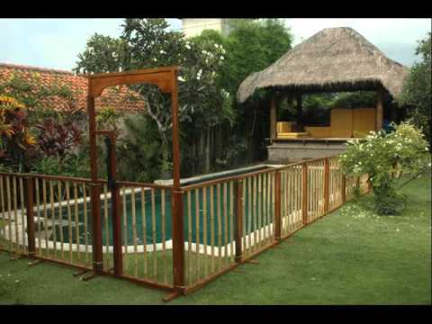 Pool fence ideas landscaping fences for outdoor youtube for In ground pool fence ideas