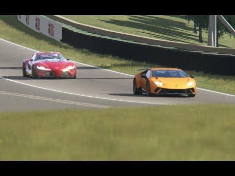 Battle Toyota FT-1 vs Lamborghini Huracan Performante at Circuit Interlagos