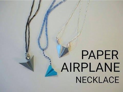 Airplane Necklace DIY