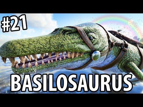 Ark: Ragnarok! - I TAMED A BASILOSAURUS!! [#21]  Ragnarok Gameplay 