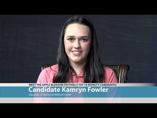 Apple Blossom Candidate Kamryn Fowler
