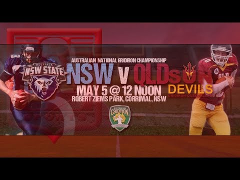 2018 Australian National Gridiron Championship - NSW v QLD