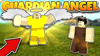 We Became GUARDIAN ANGELS And Defended NOOBS! (roblox Booga Booga)