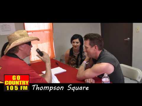 Go Country 105 Interviews Thompson Square at Stagecoach 2013