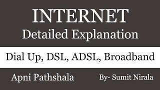 Internet Connections, Dial Up, Broadband, DSL and ADSL