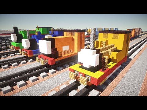 Minecraft Peter Sam, Sir Handel, Rusty, Duncan Thomas & Friends Tutorial