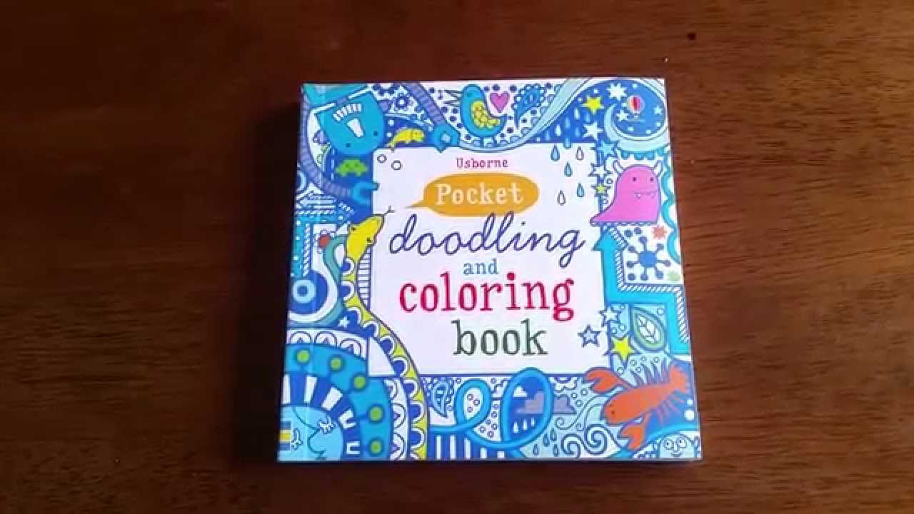 Pocket Drawing Doodling Coloring Book Blue Usborne Books And More