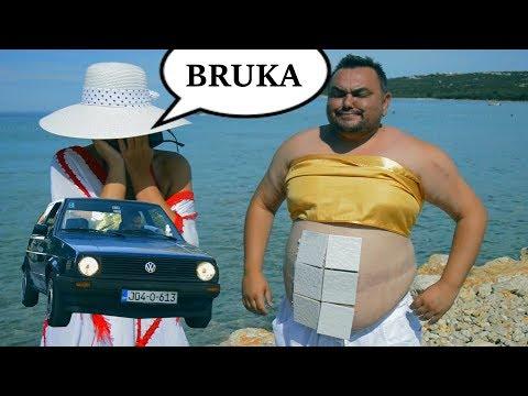 Bosanska SELJAČINA vozi ženu na more sa Golf 2