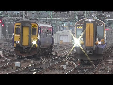 Trains at Glasgow Central | 04/03/2017