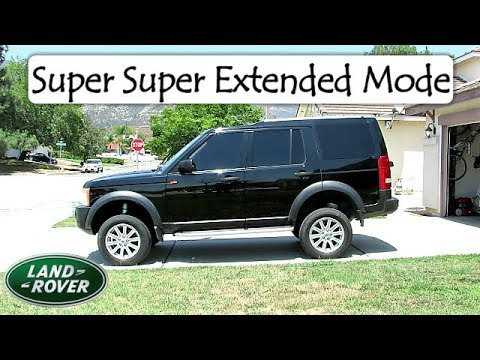 Land Rover Discovery 3 Learn How To Go Into Super Extended Mode - You'll  Love The Added Height