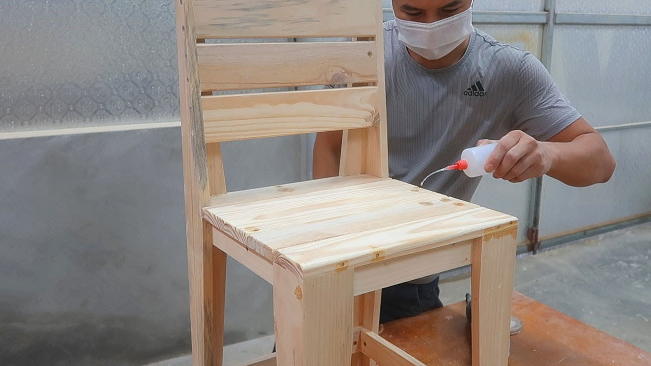 Download Amazing Pallet Woodworking Techniques // How To Make A Simple Chair For Beginners // Woodworking