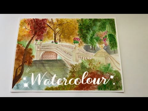Beautiful Watercolour Landscape Painting | How To Paint