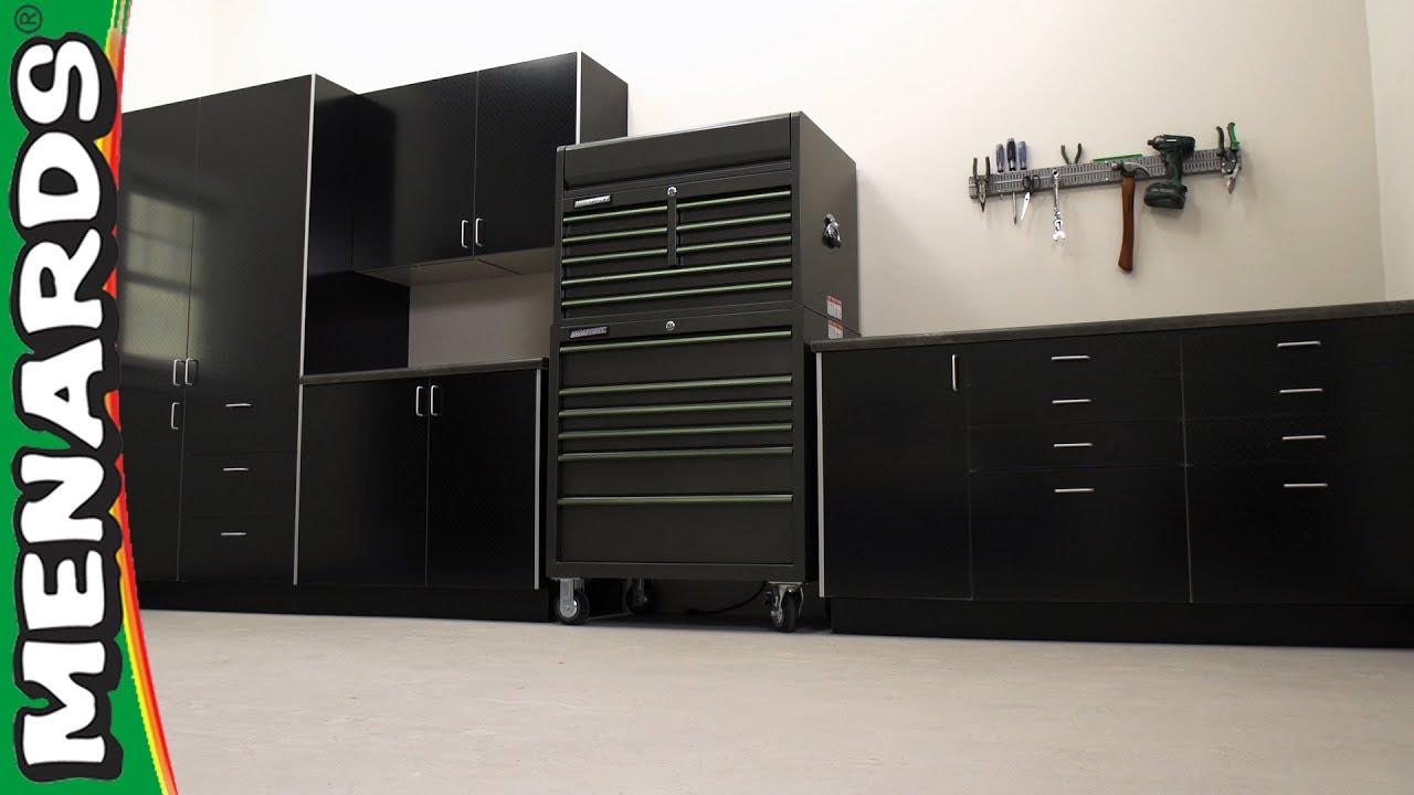 Klarve Cabinetry Garage Cabinets  Menards  YouTube
