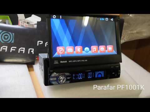Универсальная магнитола Parafar на Android 7.1.1 (1Din) (PF1001K)
