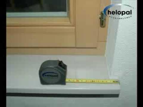 Ausmessen von Innenfensterbänken - YouTube