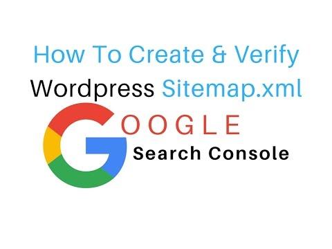how to add property verify on google console wordpress sitemap xml