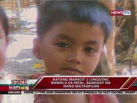 SONA: Batang mahigit 2 liggong nawala sa Rizal, bangkay na nang matagpuan