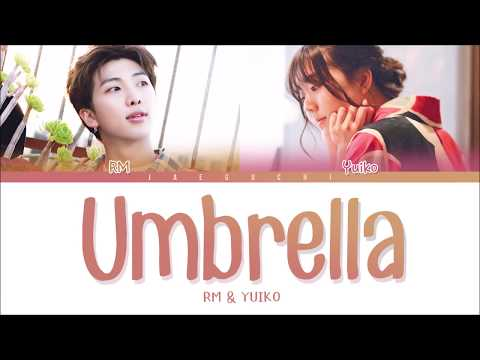 BTS RM & Yuiko  Umbrella 우산 Color Coded Lyrics EngRomHan