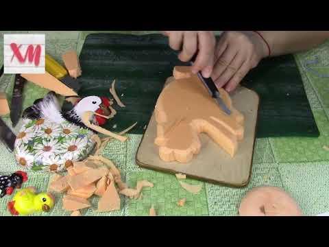 Работа с пеноплексом. Вырезаем заготовку/ Cut Out From Extruded Polystyrene Foam. ХоббиМаркет