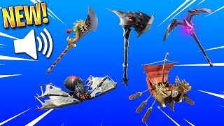 Fortnite: ALL LEAKED SOUNDS FOR v6.1 PICKAXES AND GLIDERS! (Moonrise, Guandao, Hatching and More!)