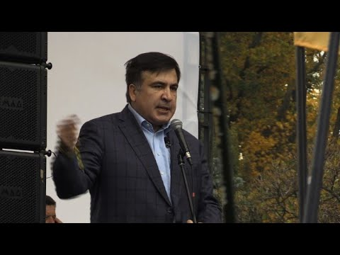 Saakashvili attacks Ukraine president at Kiev rally