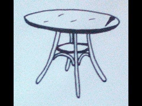 Как нарисовать круглый стол
