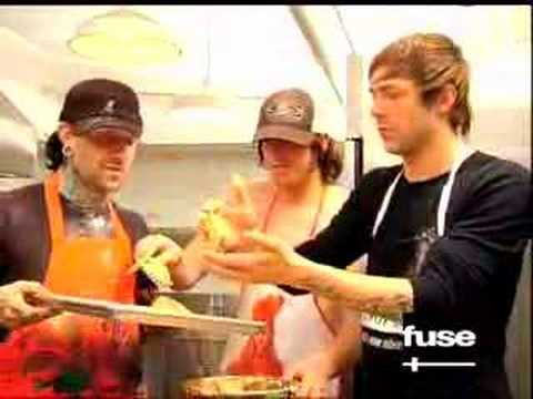 The Used and Steven in the kitchen