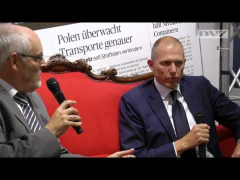 transport logistic 2017: Jens Björn Andersen on the Red Sofa of DVZ