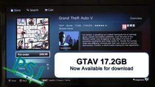 GTAV Downloading Now UK PSN Store