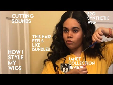 """ASMR Janet collection """"Gabriela"""" wig review  how I make my $20 synthetic wig look natural"""