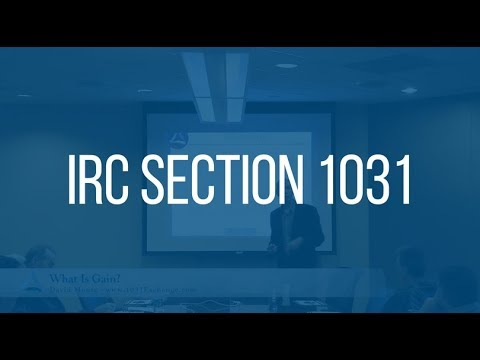 1031 Questions - Equity Advantage: IRC 1031 January 2018?