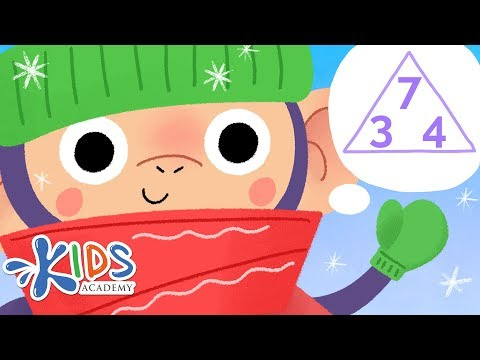 Fact Family Triangles Addition and Subtraction Cartoon | Math for 1st Grade | Kids Academy