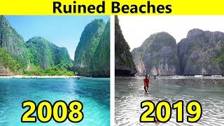 Beautiful Beaches That Don't Exist Anymore Because We've Destroyed Them