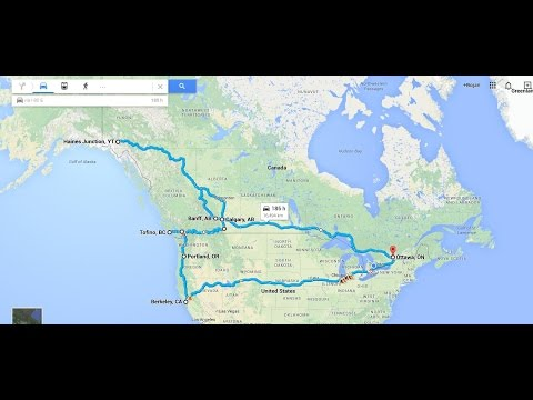 16,000 km / 10,000 miles North American Road Trip GoPro Timelapse