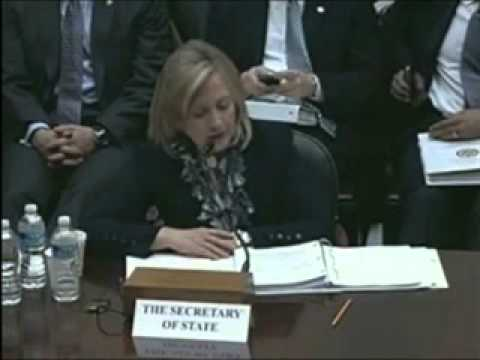 Foreign Affairs committee hearing with Hillary Clinton about PMOI/MEK