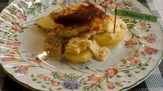 Рыба запеченная с картофелем и майонезом