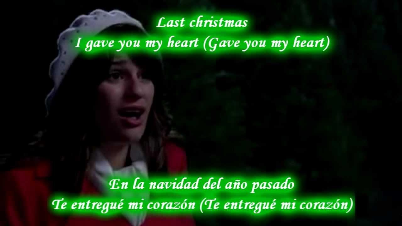 Glee - Last Christmas / Sub spanish with lyrics - YouTube
