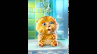 Talking Ginger singing gummy bear song