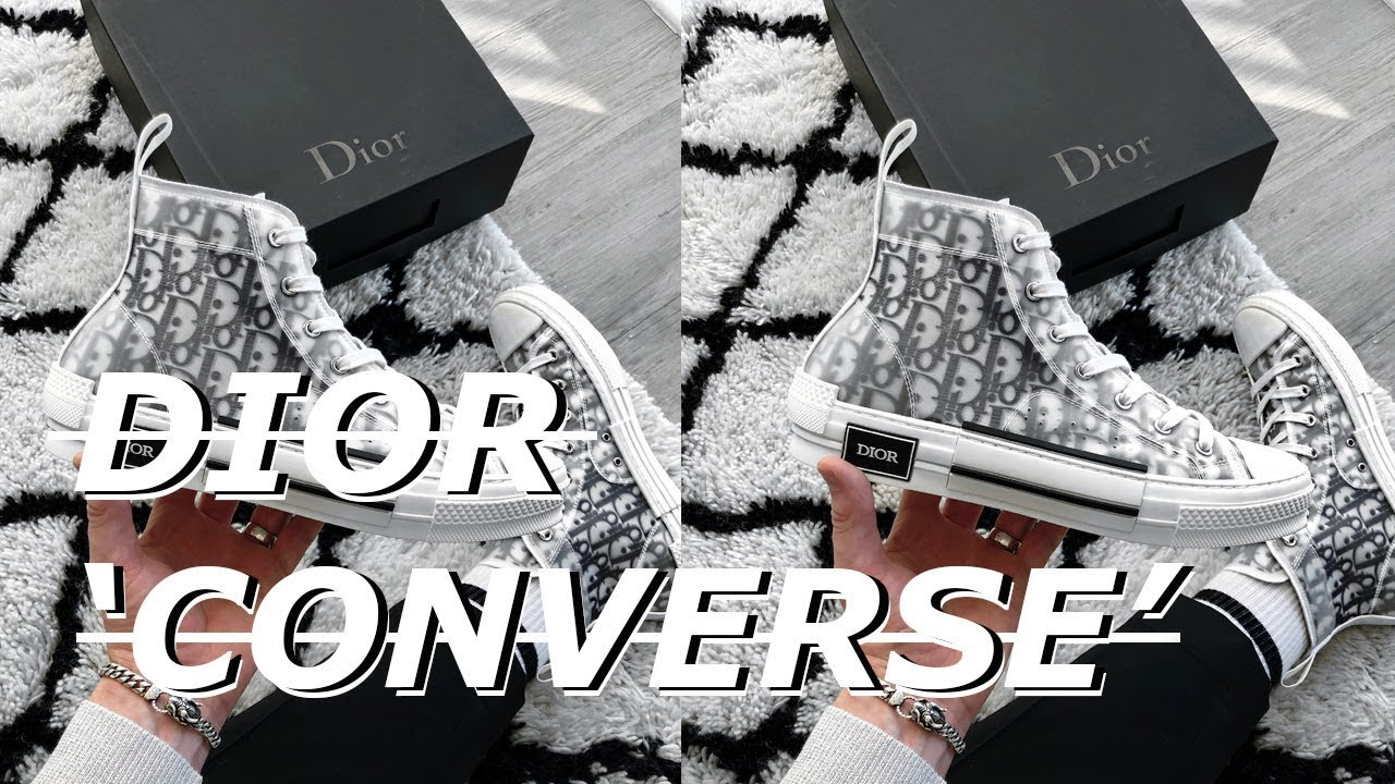 a97ca50b4a51 DIOR  Converse  Oblique B23 Sneaker Unboxing - Kim Jones SS19 - YouTube
