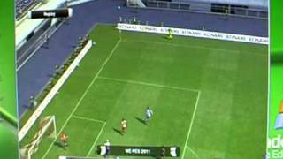 PES 11: a ball hits the corner flag IMPOSSIBLE !!!