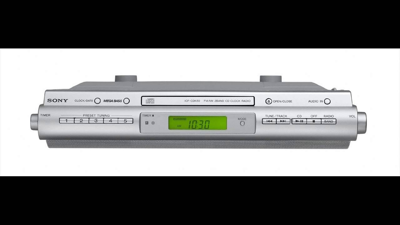 Under Kitchen Cabinet Radio Sony Icfcdk50 Under Cabinet Kitchen Cd Clock Radio Youtube