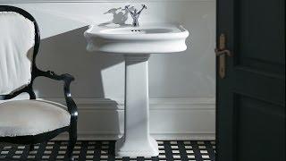 www.millenium-lazienki.pl - SIMAS LANTE - Włoska biała ceramika stylu retro Umywalki na postumencie(, 2014-03-26T07:31:08.000Z)