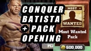 wwe immortals conquer batista most wanted pack opening