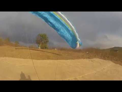 Strong wind takeoff technique - The Roman way - Gradient Aspen 6 - Paragliding in Tacima