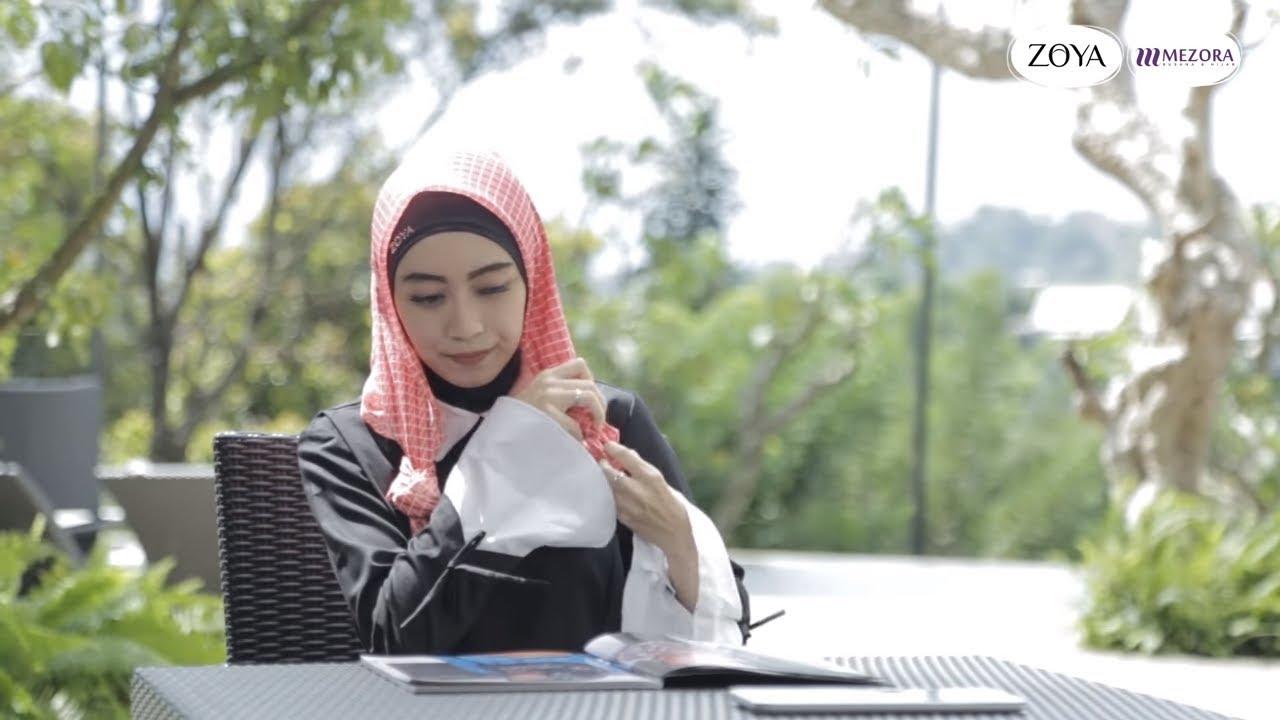 Zoya Hijab Tutorial Segi Empat Untuk Gaya Casual Kamu Youtube