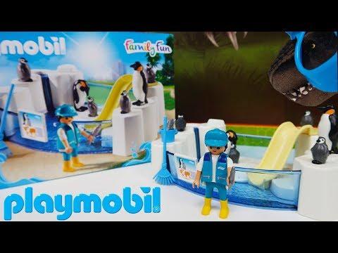 Playmobil Aquário Piscina dos Pinguins Pinguinário Playset Family Fun Dino Bagunça