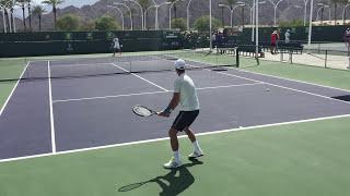 Novak Djokovic (60 fps) 3/13/16 Indian Wells BNP Paribas Open Practice