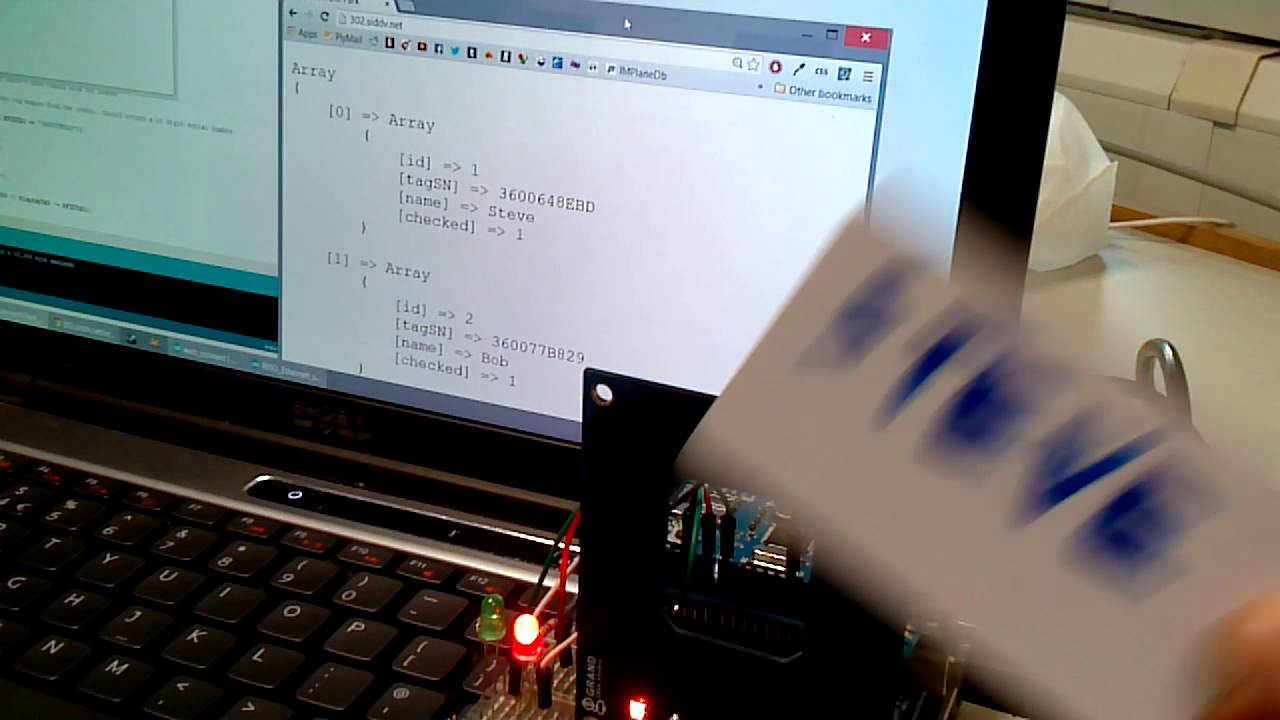 Arduino sql modification with rfid youtube
