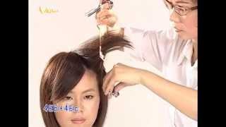 輕柔瀏海短髮女孩髮型,時尚對比髮型教學影片,韋恩智慧型組合剪刀-CTS Hairstyle 03(中文美髮教學)